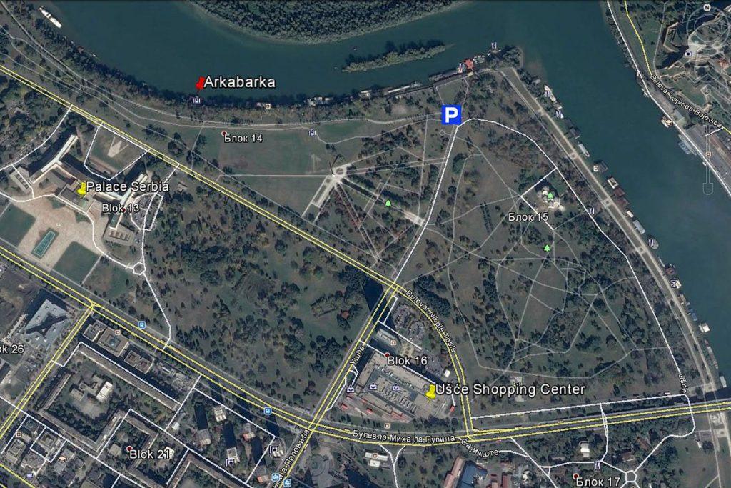 Map, ArkaBarka, Belgrade, Servia