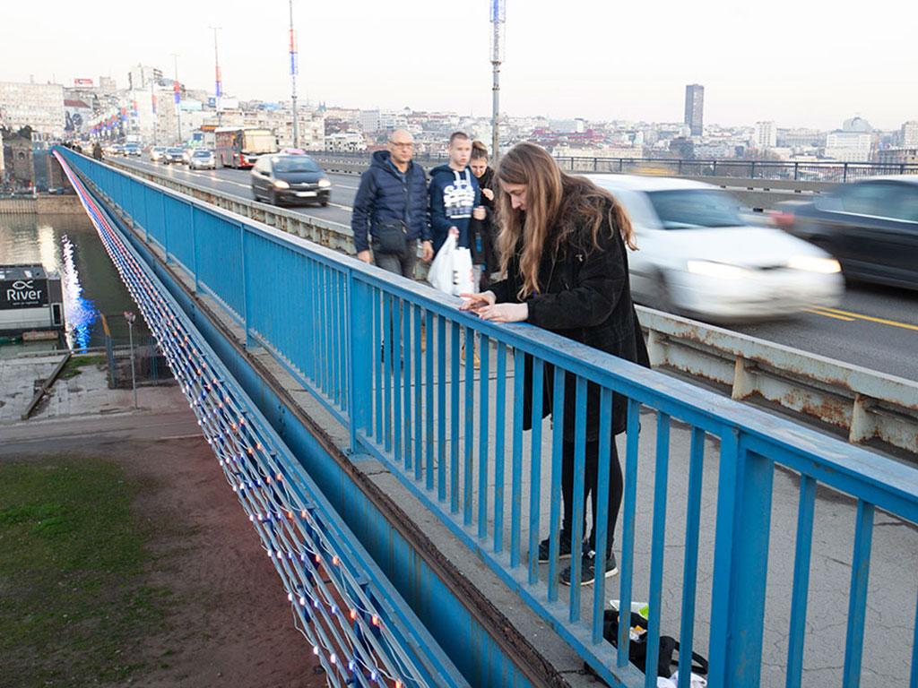 Belgrade Bridge Performance 15 February 2020 Branko's bridge, Serbia