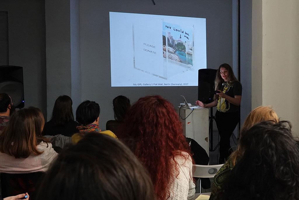 Artist-Talk Kim Engelen, MKM – Magacin u Kraljevića Marka, Belgrado, 27 February 2020