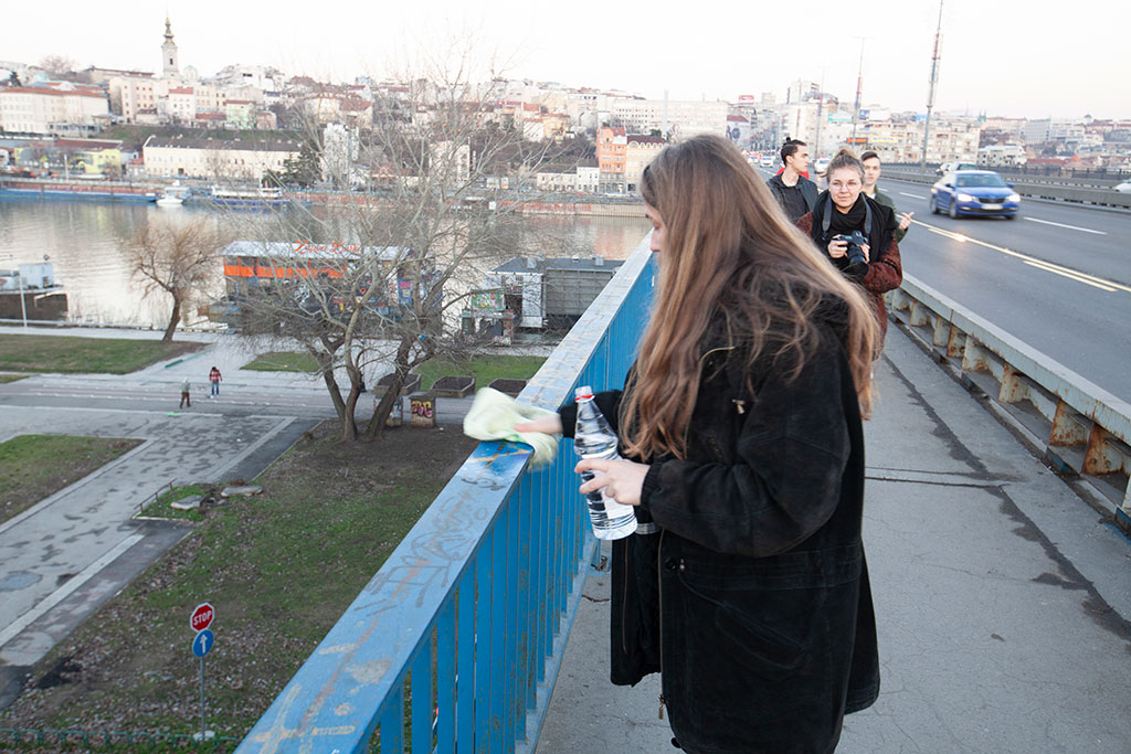 Belgrade Bridge Performance, 15 February 2020, Branko's bridge, Serbia