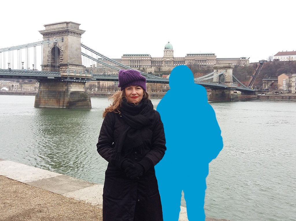 Kim Engelen [Bridges], THE INVISIBLES: Blue, Szechenyi Lánchíd (Chain_Bridge), Budapest, Hungary, 2016 +2017