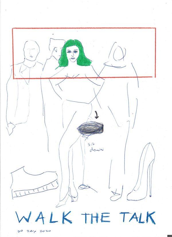 Kim Engelen, Confession Drawings, Walk The Talk, 2020