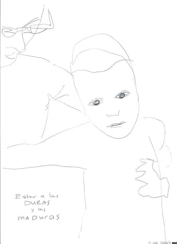 Kim Engelen, Estar a las Duras y a las Maduras No. 2 (Agustín), 2020Kim Engelen, Estar a las Duras y a las Maduras No. 2 (Agustín), 2020