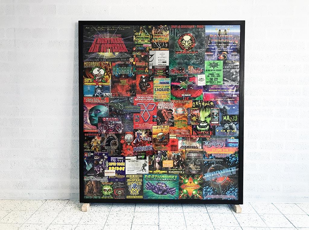 Kim Engelen, Total-shot, Party, 151,8x136,6x5 cm, 1998