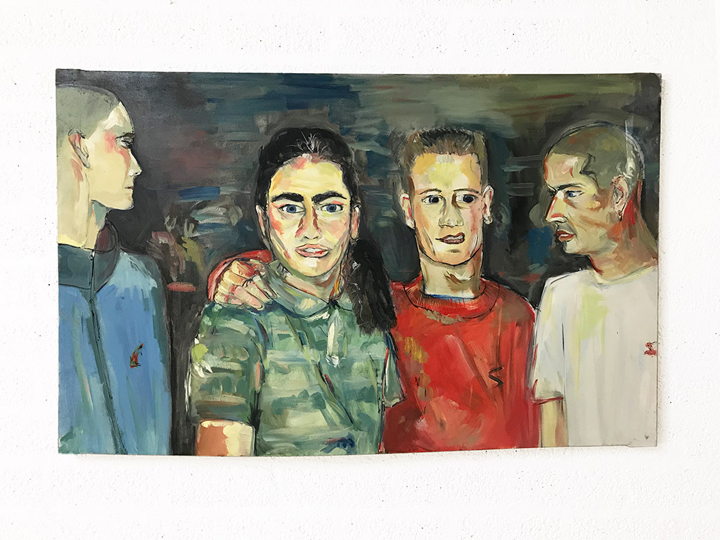 Kim Engelen, Oil on Canvas (Museum Wrap), Gabbers, Total-shot, 1998