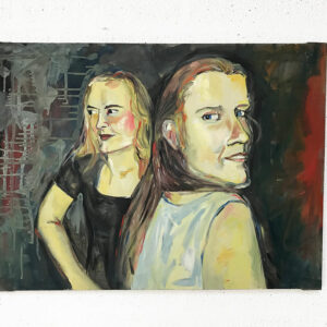 Kim Engelen, Oil on Canvas (Museum Wrap), Linda & I, Total-shot, 1998