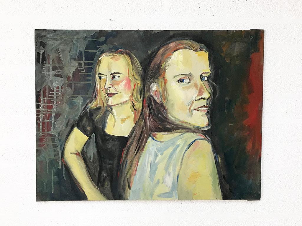 Kim Engelen, Oil on Canvas (Museum Wrap), Linda & I, Total-shot, 1998