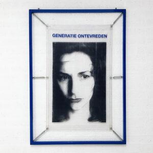 Kim Engelen, My Generation, Generatie Ontevreden (blue), artwork total-shot, 1998