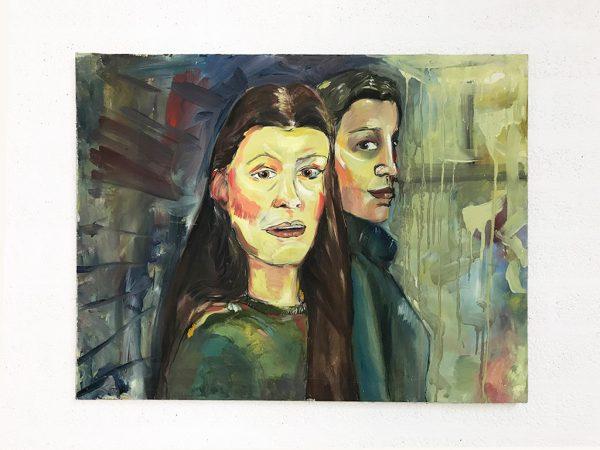 Kim Engelen, Oil on Canvas (Museum Wrap), Maartje & Merel, Total-shot, 1998