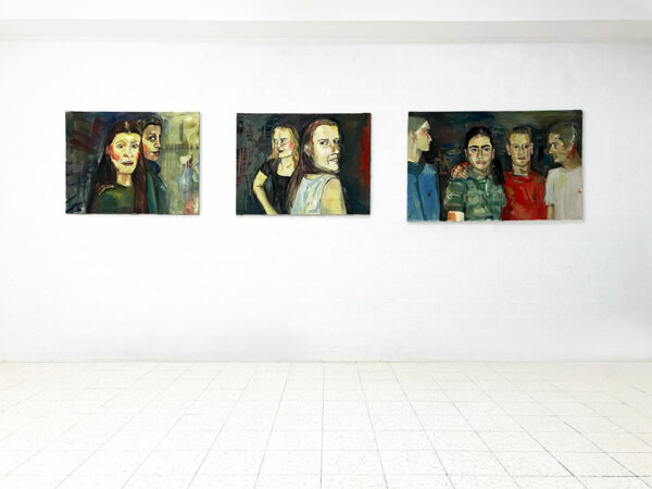 Kim Engelen, Party (Series of 3), Oil on Canvas (Museum Wrap), overview-shot, 1998