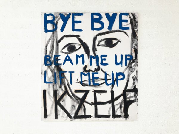 Kim Engelen, Myself (Bye Bye), Series Pronunciations, Oil on Canvas, Total-shot, 1997