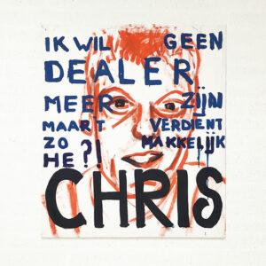 Kim Engelen, Chris, Series Pronunciations, Oil on Canvas, Total-shot, 1997