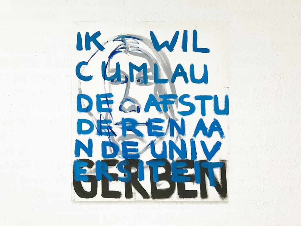 Kim Engelen, Gerben, Series Pronunciations, Oil on Canvas, Total-shot, 1997