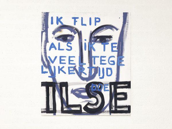 Kim Engelen, Ilse, Series Pronunciations, Oil on Canvas, Total-shot, 1997