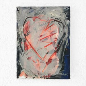 Kim Engelen, Hart (Heart), Oil and Acrylic on Canvas, Total-shot, 1997