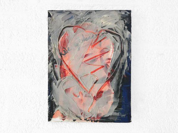 Kim Engelen, Hart (Heart), Oil and Acrylic on Canvas, Total-shot, 1997