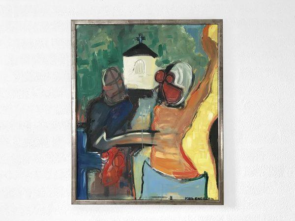 Kim Engelen, The Marriage Boat (Dutch: Het Huwelijksbootje), Oil on Canvas, Total-shot, 1997