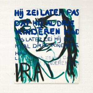 Kim Engelen, Ira, Series Pronunciations, Oil on Canvas, Total-shot, 1997