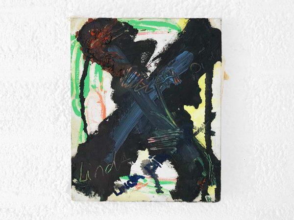 Kim Engelen, Kruisje (Little Cross), Oil and Acrylic on Canvas, Total-shot, 1997
