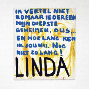 Kim Engelen, Linda, Series Pronunciations, Oil on Canvas, Total-shot, 1997