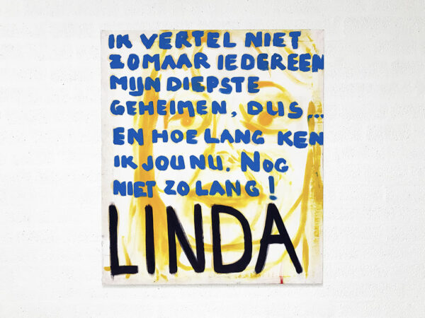 Kim Engelen, Linda, Series Pronunciations, Oil on Canvas, Total-shot, 1997