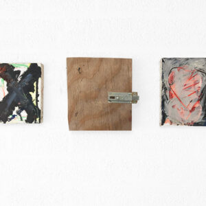 Kim Engelen, Little Cross, Heart, Friendship (All 3 paintings together), Overview-shot, 1997
