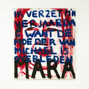 Kim Engelen, Mara, Series Pronunciations, Oil on Canvas, Total-shot, 1997