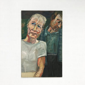 Kim Engelen, Marriage Road No. 1 (From the Series Marriage), Oil on Canvas, Total-shot, 1997