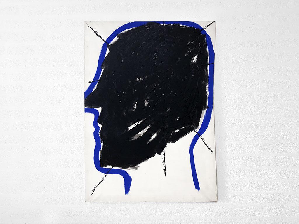 Kim Engelen, Networks (Black), Acrylic on Canvas, Total-shot, 1997