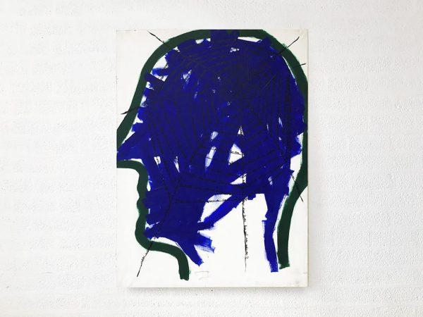 Kim Engelen, Networks (Blue), Acrylic on Canvas, Total-shot, 1997