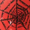Kim Engelen, Networks (Red), Acrylic on Canvas, Detail-shot 3, 1997