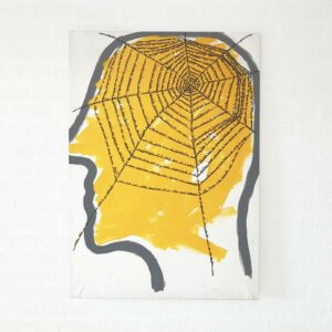 Kim Engelen, Networks (Yellow), Acrylic on Canvas, Total-shot, 1997