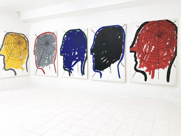 Kim Engelen, Networks (Series of 5), Acrylic on Canvas, 1997
