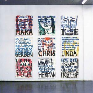 Kim Engelen, Uitspraken (Series of 9), Overview-shot Art Academy Den-Bosch, 1997