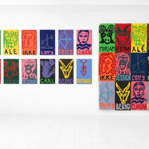 Kim Engelen, 12x Zodiac Paintings, 30x50 cm + Zodiac Carpet, 122x166 cm, 1998