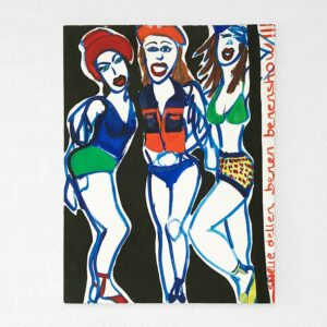 Kim Engelen, Fast Chicks Legs Show (Snelle Dellen Benen Show), Oil on Regular Stretched Canvas, 1997