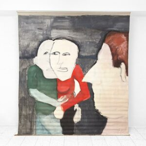Kim Engelen, Red Sweater, Oil Paint on Roller Screen, 1995