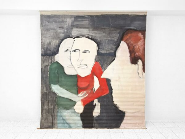 Kim Engelen, Red Sweater, Oil Paint on Roller Screen, 1995