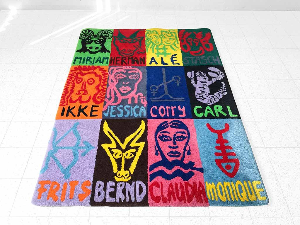 Kim Engelen, Zodiac Carpet, Lying down, 1998