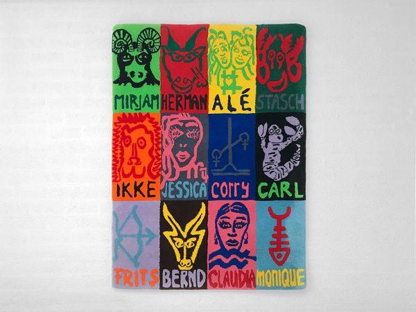 Kim Engelen, Zodiac Carpet hanging on the wall, 1998