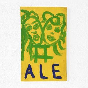 Kim Engelen, Zodiac Painting Ale—Gemini No. 3, Acrylic on Canvas, 1998
