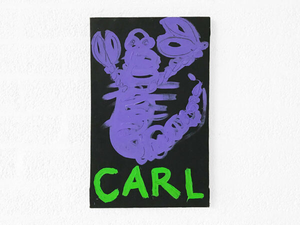 Kim Engelen, Zodiac Painting, Carl—Scorpio No. 8, Acrylic on Canvas, 1998