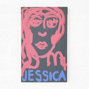 Kim Engelen, Zodiac Painting, Jessica—Virgo No. 6, Acrylic on Canvas, 1998