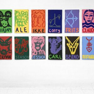 Kim Engelen, Zodiac Paintings, Acrylic on Canvas, Overview-shot, 1998