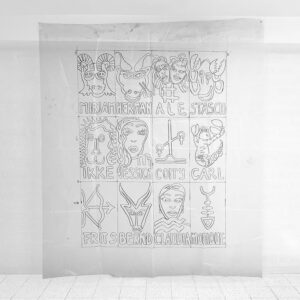 Kim Engelen, Zodiac Plastic (Production Sketch for the Zodiac Carpet, 215 x 181,5 cm (84.65 x 71.46 in, 1998