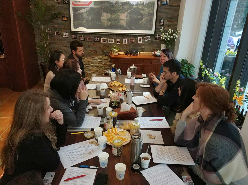 Kim Engelen, Hangzhou Global Readers & Thinkers, Art-book presentation of The Little Bridge, Hangzhou, China, 2019