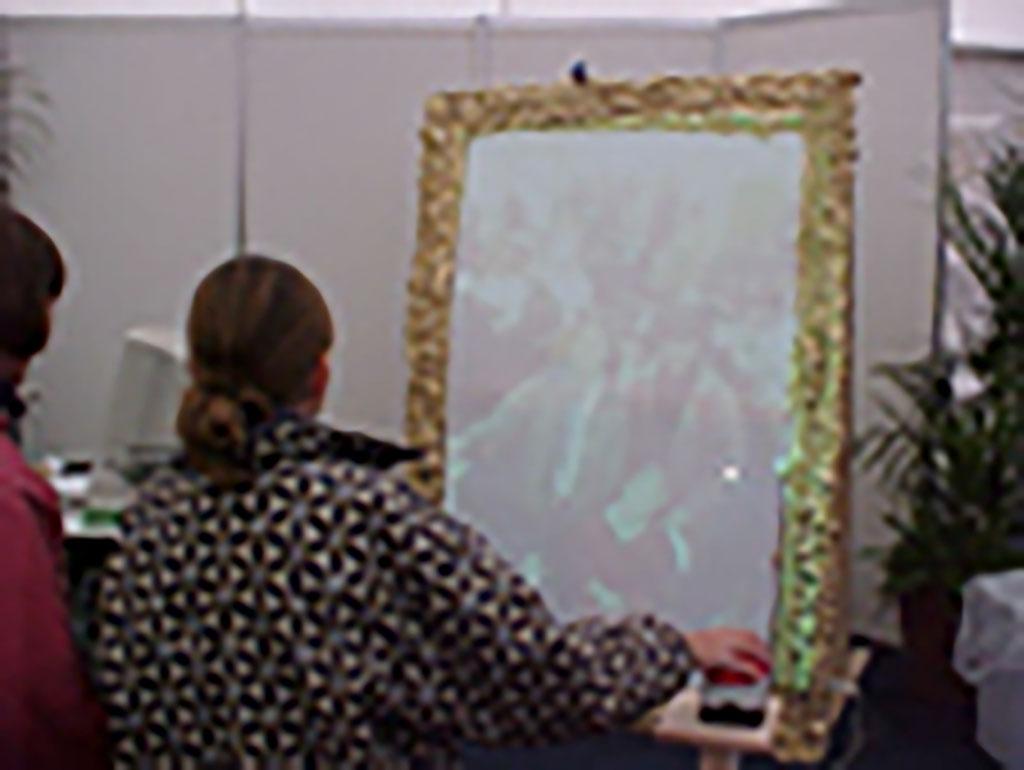 Kim Engelen, LIF-Levensgrote Interactieve Fotolijst, (Life-size Frame), Interactive Installation, Visitors, Netherlands, 2000