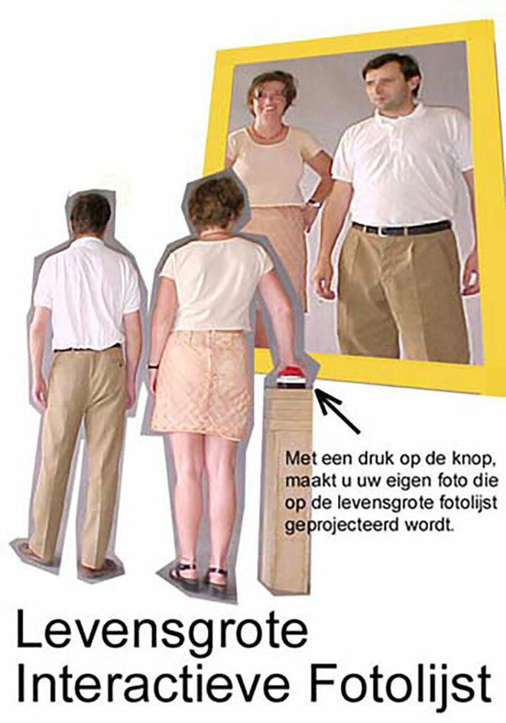 Kim Engelen, LIF-Levensgrote Interactieve Fotolijst, (Life-Size Frame), Interactive Installation, Netherlands, 2000