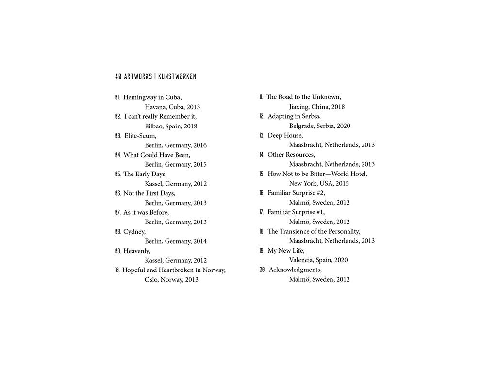 Kim Engelen, Sun-Penetrations, Quarantine: 40 Days of Isolation, Index of Art Work, 2020
