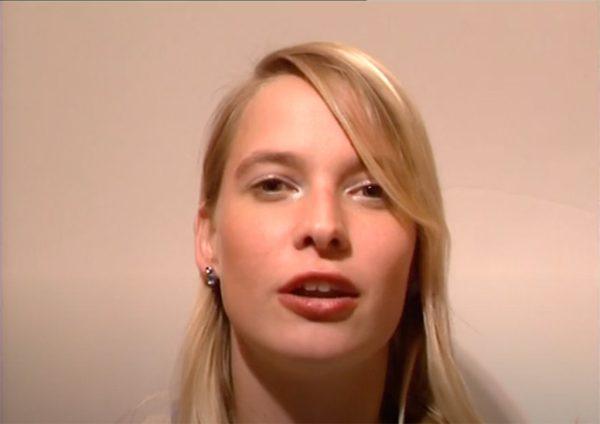 Kim Engelen, Video Lekker, Screen-still of Student Rotterdams Centrum voor Theater, Rotterdam, Netherlands, 2000